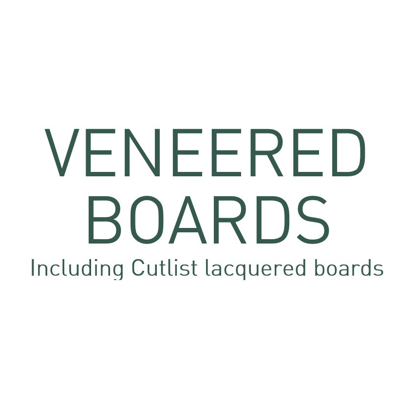 Veneered boards cut to size from CutList